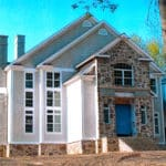 front view of nice house under construction by ec roofing