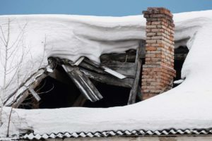roof insurance claim from winter roof damage in Ellicott City