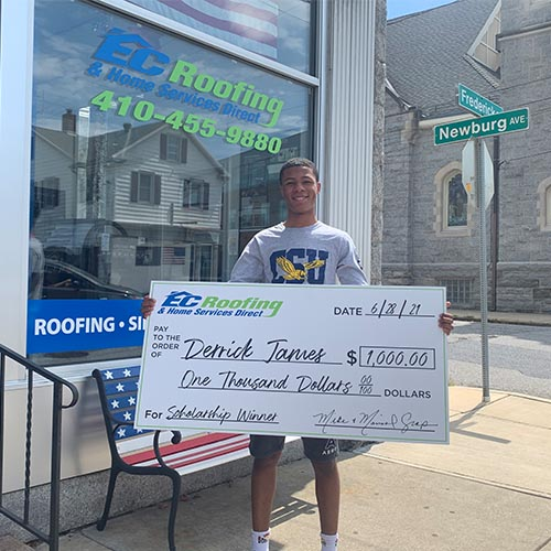 EC roofing doles out a scholarship winner in 2021